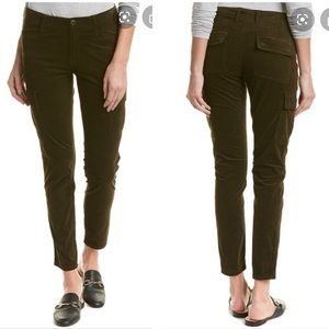 Vince Micro Cord Cargo Skinny Pants- Olive…